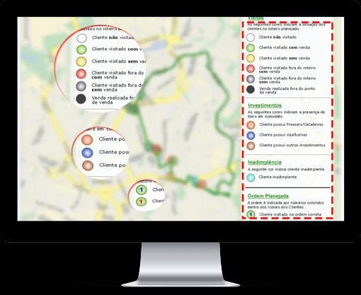 rastrear e gerenciar equipe externa - legendas